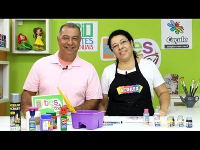 Artes na TV - 07.05.16 - T3.E14 - PINTURA. FELTRO. COSTURA