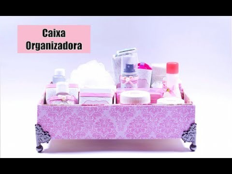 Caixa Organizadora feita com Caixa de Sapato