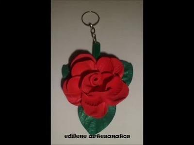 Chaveiro de rosa de eva