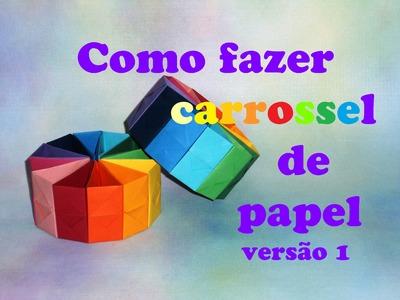 COMO FAZER CARROSSEL DE PAPEL VERSÃO 1