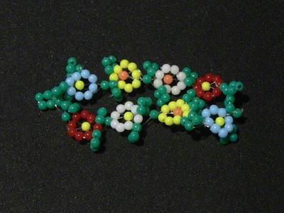 Como fazer Flores de  Miçanga para colar e pulseiras Passo a Passo