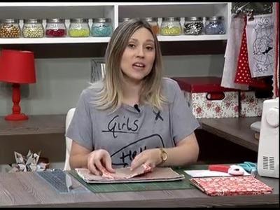 Como fazer um estojo para Tablet de tecido - 20.04.16 - 1a parte