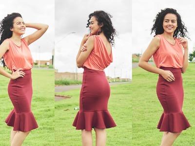 Costurando forro em saia com Alana Santos Blogger