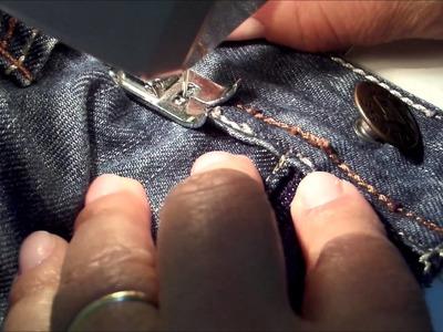 Dicas de Costura- Como trocar o zíper da calça jeans