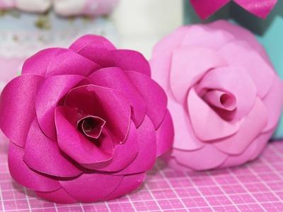 DIY -  Flor de Papel -  Como Fazer - Paper Flower - Segredos de Aline