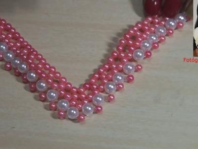 Entrelaçado de  tira de pérolas  para chinelos - perlas de tira zapatillas