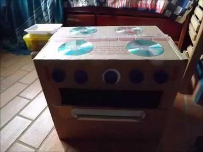 Fábrica de Brinquedos da vovó: cozinha de papelão