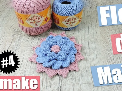 "Flor de crochê - Flor de Maio - Remake #4 ""Soraia Bogossian"""