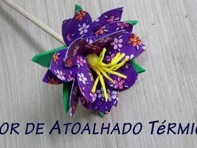 Flor de Material Reciclado - Térmico #2