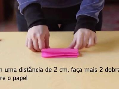 Flor de papel crepom - Técnicas Passo a Passo