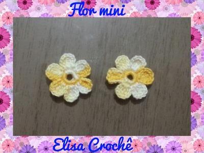 Flor mini em crochê # Elisa Crochê