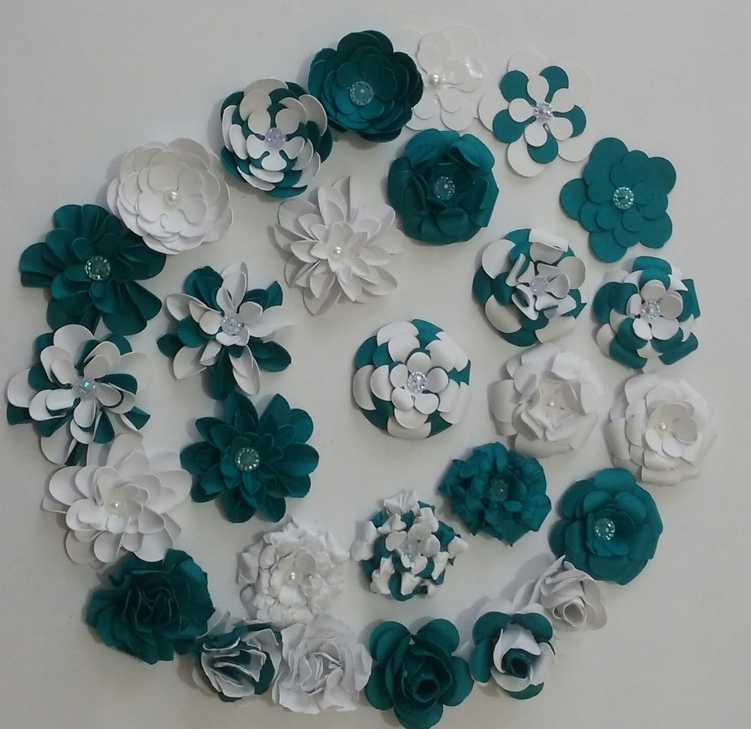 Flores de scrapbooking 1 - Aula parte única