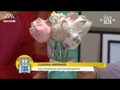 Flores em Tecido para o dia da Mãe 2016 - Costura com Riera Alta