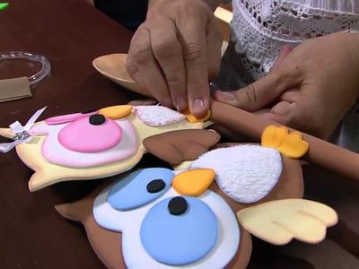 Mulher.com - 18.04.2016 - Corujinha cozinheira em E.V.A ou feltro - Rosemary Ansante  PT2