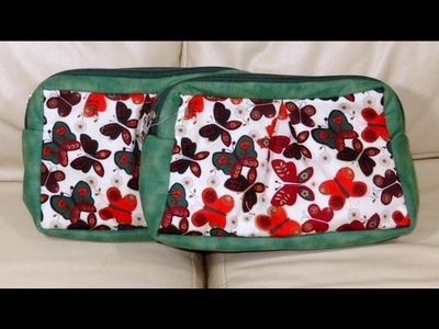 Necessaire das borboletas - Maria Adna Ateliê - Cursos e aulas de bolsas e necessaires de tecido