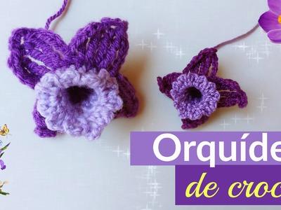Orquídea de crochê passo a passo