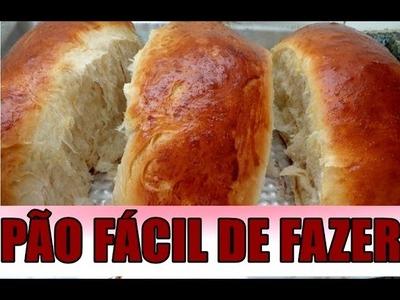 PÃO CASEIRO SIMPLES  FÁCIL PARA OS INICIANTES,FOFINHO MACIO FAÇA VOCE MESMO POR MARA CAPRIO
