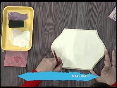Pátina com esponja e stencil 3D - 2da parte