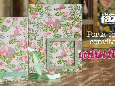 Porta foto convite e caixa livro (Ana Santiago)