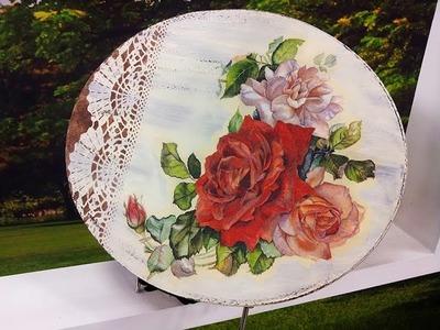 Programa Arte Brasil - 22.03.2016 - Daisy Bilá - Pintura Vintage em MDF