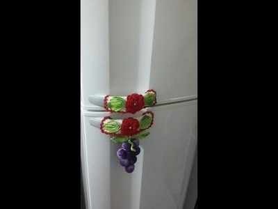 Puxador de geladeira em crochê parte 3