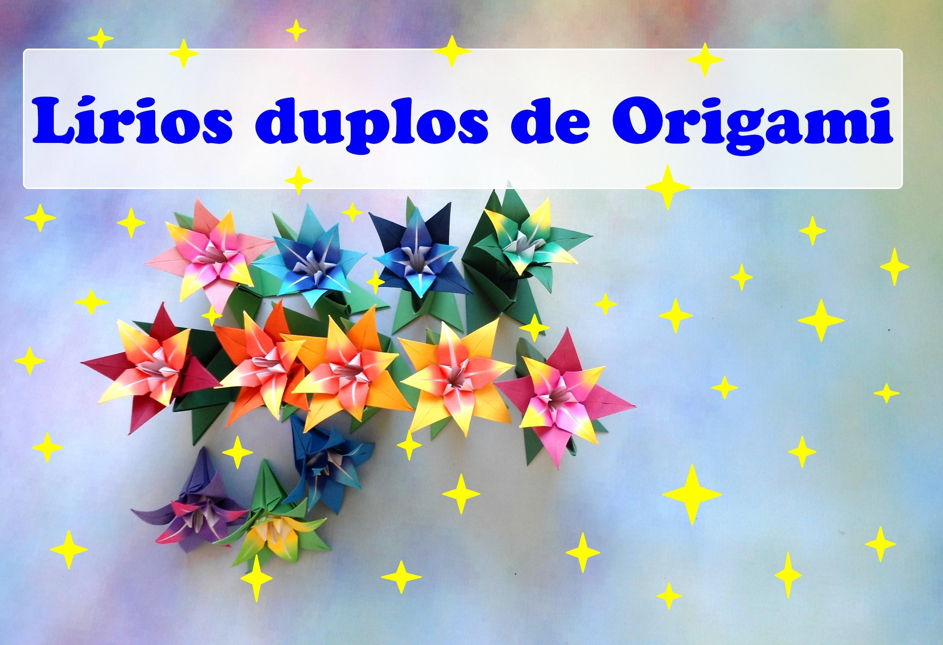 LÍRIOS DUPLOS DE ORIGAMI
