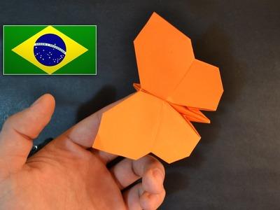 Origami: Borboleta - Instruções em português PT BR