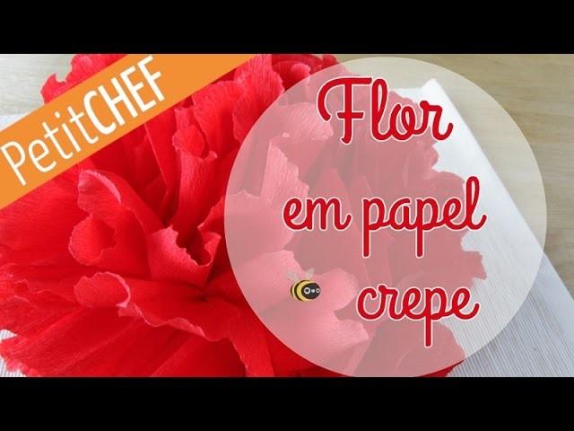 Tutorial Flor de Natal em papel crepe do PetitChef