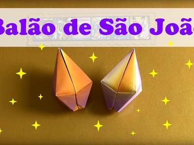 COMO FAZER BALÃO DE SÃO JOÃO DE ORIGAMI