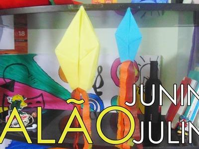 Como fazer balão para Festa junina e julina