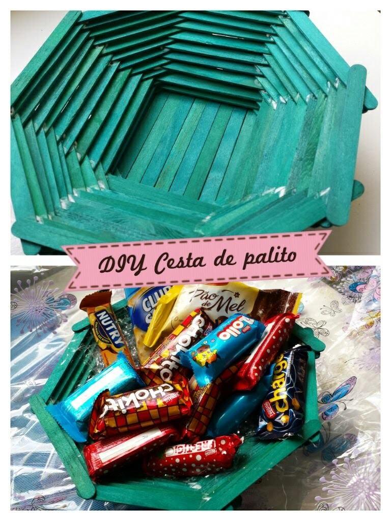 DIY Cesta de palitos - especial dia das mães.