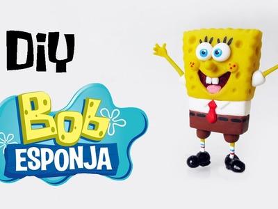DIY: Como Fazer BOB ESPONJA em Biscuit (SpongeBob Tutorial) Ideias Personalizadas - DIY