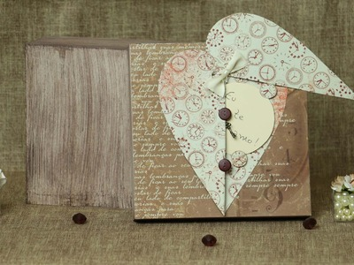 Caixa Masculina Dia dos Namorados Scrapbook