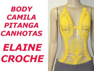 CROCHE PARA CANHOTOS - LEFT HANDED CROCHET - BODY CROCHE CAMILA PITANGA CANHOTAS