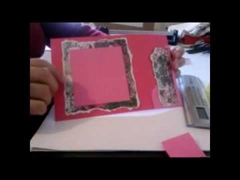 Scrapbooking - Tecnica papel rasgado - moldura