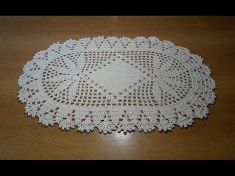 Tapete de crochê oval em barbante parte 1 - crochet rug - alfombra de ganchillo
