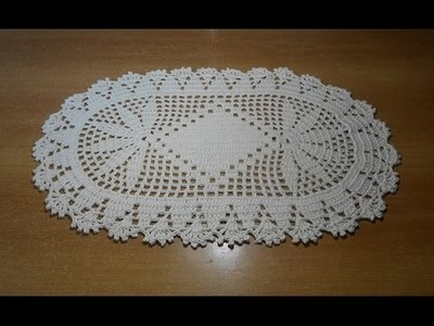 Tapete de crochê oval em barbante parte 2 - crochet rug - alfombra de ganchillo