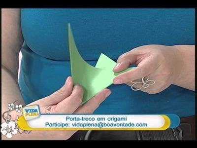 Artesanato - Porta-treco em origami