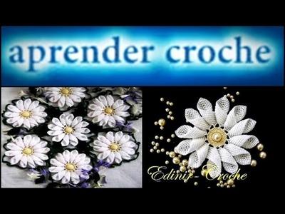 CROCHE AULA FLOR MARGARIDA EM CROCHE PARTE 3