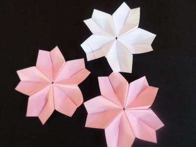 Flor de Cerejeira (Sakura) de Origami
