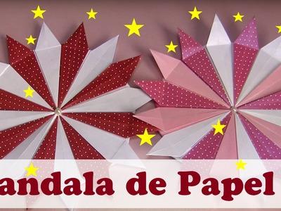 MANDALA DE  PAPEL 3 - ORIGAMI - MANDALA  SOLAR