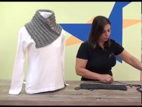 ARTESANATO CRISTINA. Gola Vivi em tricô  com Cisne Contessa