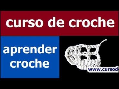 CURSO DE CROCHE AULA 073.081 AUMENTOS DO CROCHE FILÉ 1