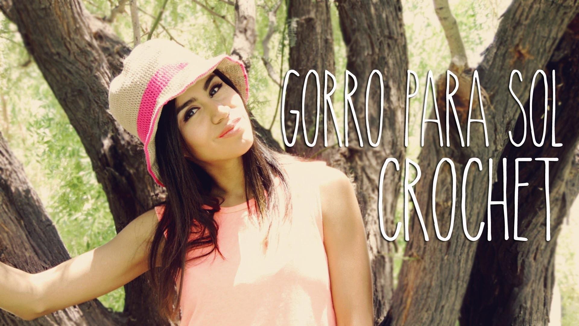 DIY CROCHET : GORRO PARA SOL ( VERANO )