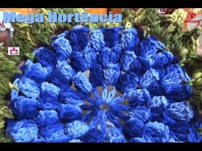 Flor Mega Hortencia Barroco parte #2 - Professora Simone