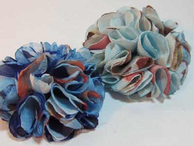 Tutorial: Glamorous flower. Flor glamorosa.