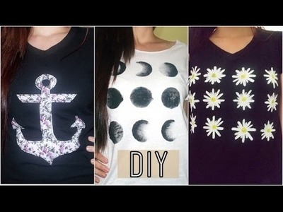 3 DIY em 1: Estampa de Camisetas