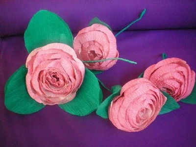 Flor de Papel Crepom - Fácil Fácil