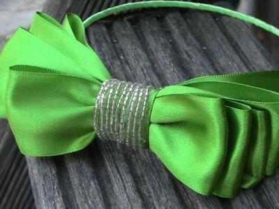 Laço simples de fita  - lace with satin ribbons-