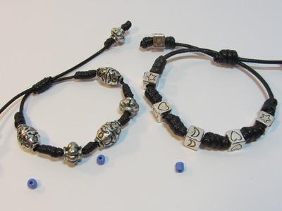 Tutorial:  Bracelet knots. Pulsera de nudos. Bracelet knots.
